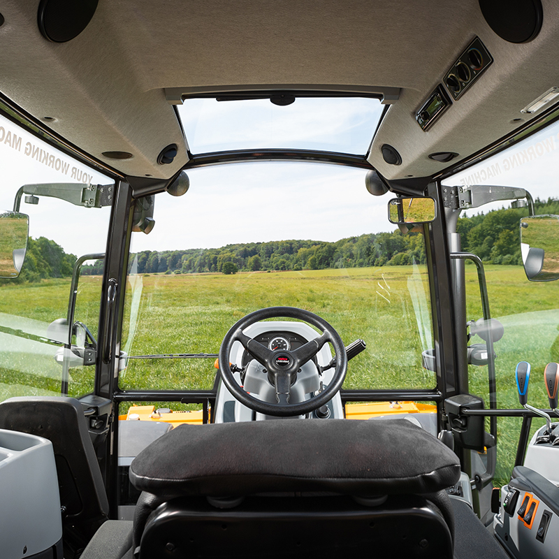 valtra a series tractor cabin interior good visibility