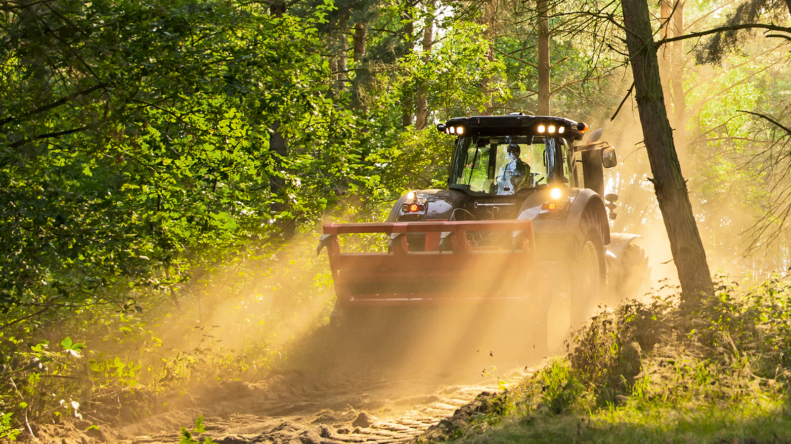 altra twintrac tractor in forest